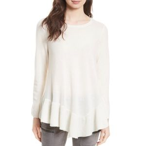 Joie Tambrel Wool/Cashmere Asymm. Sweater Tunic S